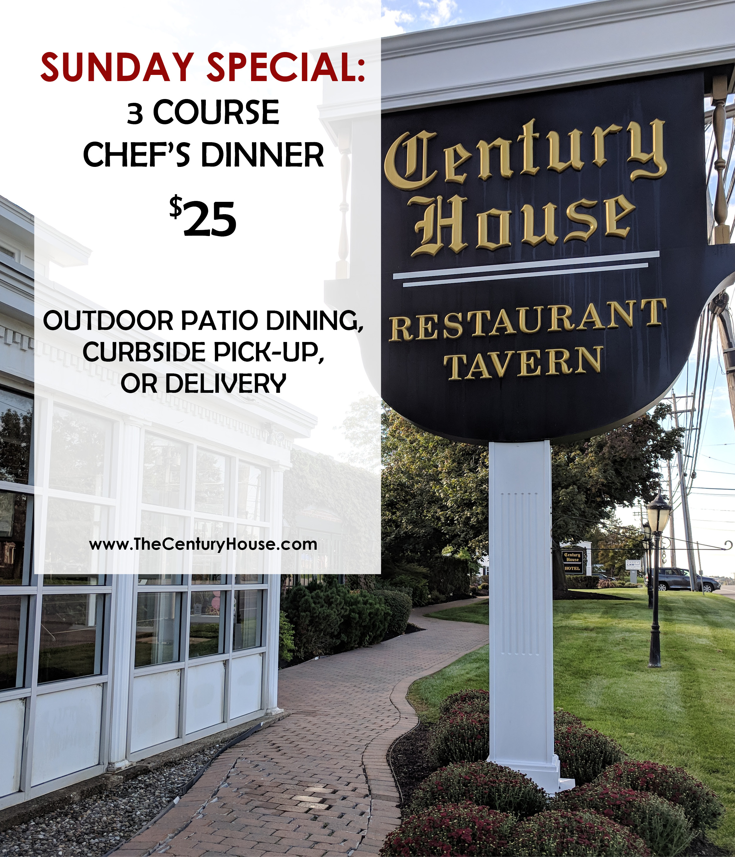 SUNDAY 3 Course DINNER | $25